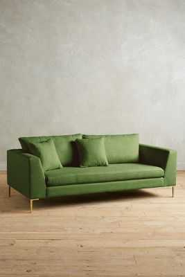 Linen Edlyn Sofa -Kelly green - Anthropologie