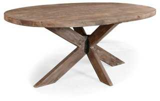 """Xavier 78"""" Oval Dining Table, Natural - One Kings Lane"""