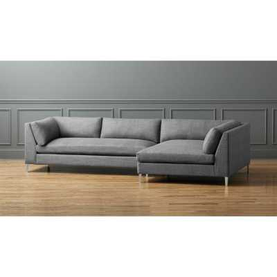 Decker 2-piece sectional sofa - Alpha Granite - CB2