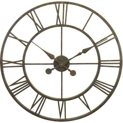 """Oversized 30"""" Skeleton Tower Wall Clock by Darby Home Co - Wayfair"""