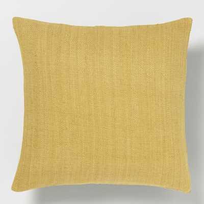 Silk Hand-Loomed Pillow Cover - Horseradish, 20x20, No Insert - West Elm