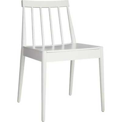 Hemstad white chair - CB2