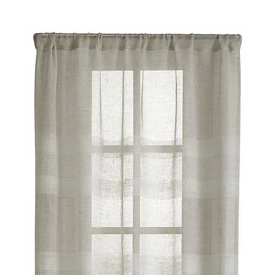 "Shorewood 50""x108"" Natural Linen Curtain Panel - Crate and Barrel"