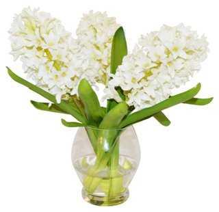 Hyacinth in Rose Bowl, Faux - One Kings Lane