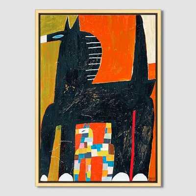 "Mizuki Goto Print - Horse -  30""x36"" Canvas - West Elm"
