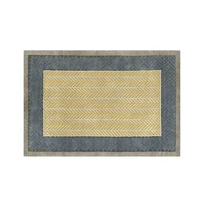 Piven Chevron Wool-Blend 6'x9' Rug - Crate and Barrel