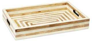 "20"" Bone-Inlay Tray, Natural - One Kings Lane"