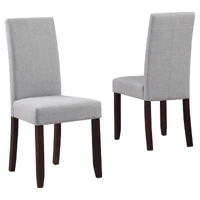 Acadian Parson Dining Chair Wood (Set of 2) - Simpli Home - grey - Target