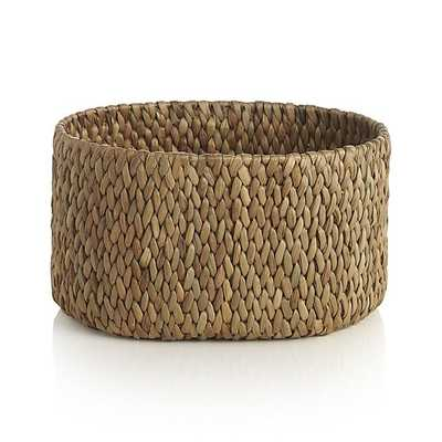 Water Hyacinth Large Oval Basket - Crate and Barrel