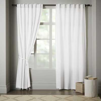 """Linen Cotton Curtain + Blackout Lining - Stone White - 48""""W x 108""""L - West Elm"""