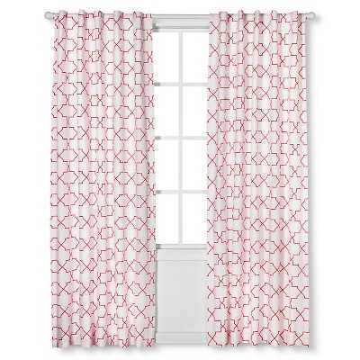 Sabrina Soto Calypso Curtain Panels- 95''-coral - Target