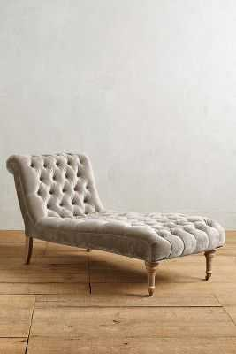 Slub Velvet Orianna Chaise - Anthropologie
