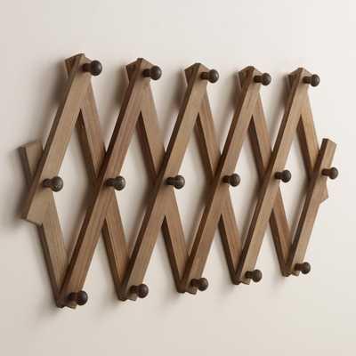 Wood Accordion Wall Storage - World Market/Cost Plus