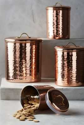 Copper-Plated Canisters - Anthropologie