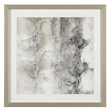 Grey Circles 2 - 23.5''W x 23.5''H  - Framed (Champagne)- With mat - Z Gallerie