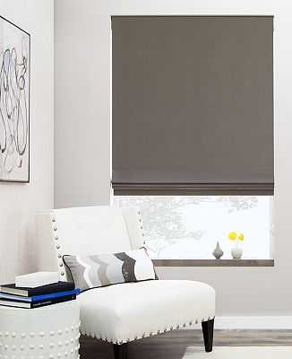 "Flat Roman Shade - 31""w x 64.5""h; White cotton - The Shade Store"