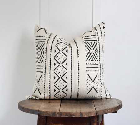 """African Mudcloth pillow 'Vita' - 19"""" sq. - insert not included - Etsy"""