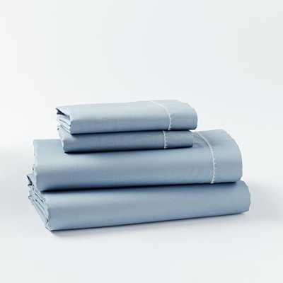 Organic Sateen Sheet Set - King, Moonstone - West Elm