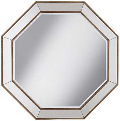"Hornbeck Gold Octagon 34"" x 34"" Beveled Wall Mirror - Lamps Plus"