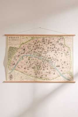 Hanging Vintage Paris Map - Urban Outfitters