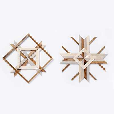 Mid-Century Abstract Snowflake Wall Art - Set of 2 - West Elm