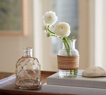 REED WRAPPED VASE - SMALL - Pottery Barn