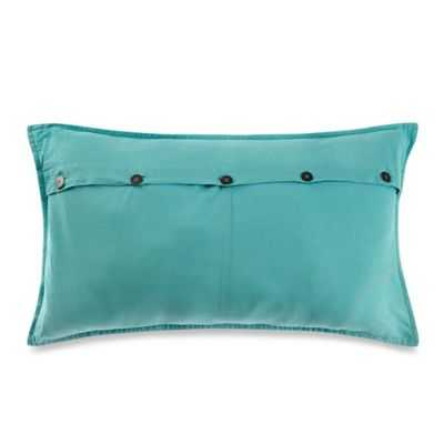 """Kenneth Cole Reaction Home Mineral Button Oblong Throw Pillow in Aqua- 14"""" W x 24"""" L- Without insert - Bed Bath & Beyond"""