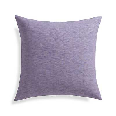 "Linden Lavender Purple 18"" Pillow with Feather-Down Insert - Crate and Barrel"