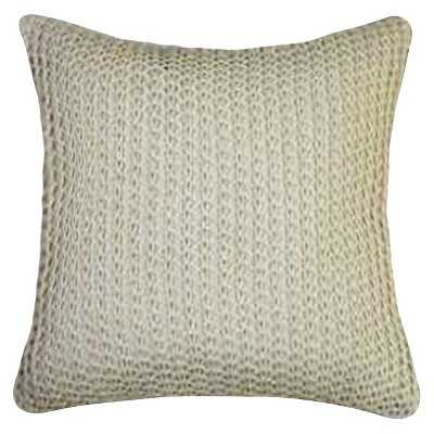 "Knit Throw Pillow - Beige - Thresholdâ""¢ (Polyester insert) - Target"