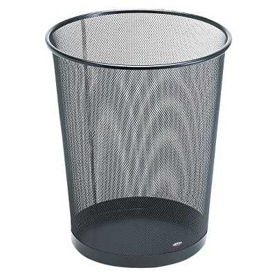 Rolodex Round Wire Mesh Wastebasket - Black - Target