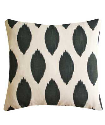 Cotton Ikat Throw Pillow - down insert - High Street Market