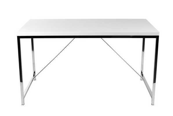 Ontario Desk WHITE/CHROME - Apt2B
