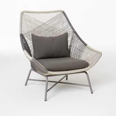 Huron Large Lounge Chair + Cushion – Gray - West Elm