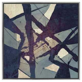 "Blue Tangle, Canvas - 25.75"" x 25.75"" (Floater frame) - One Kings Lane"