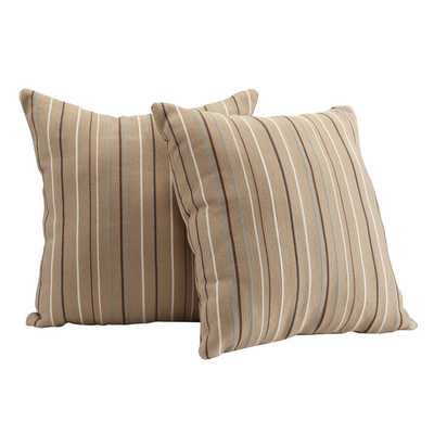 Stripe Accent Pillow (Set of 2) - 18x18, With Insert - Overstock