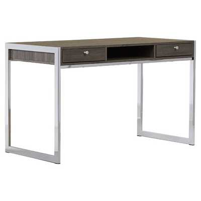 2 Drawer Chrome Writing Desk - AllModern