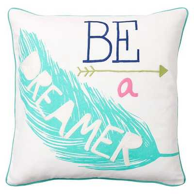 """Coastal Inspiration Pillow Cover - Dreamer - 18"""" square - Insert sold separately - Pottery Barn Teen"""