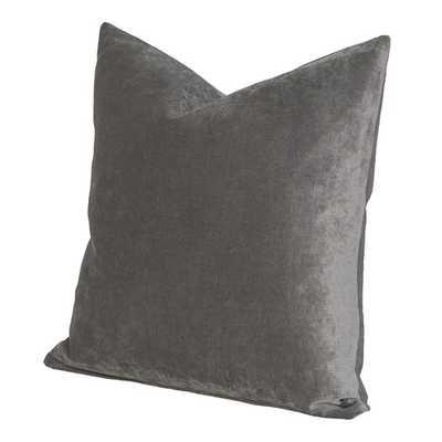 Padma Throw Pillow - 17x17- Smoke- Pollen - Polyester/Polyfill Fill - AllModern