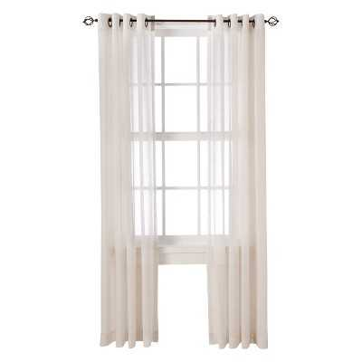 "Linen Grommet Sheer Curtain Panel - Natural - 54""W x 84""L - Target"