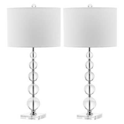 Safavieh Liam Stacked Crystal Ball Table Lamp - Target