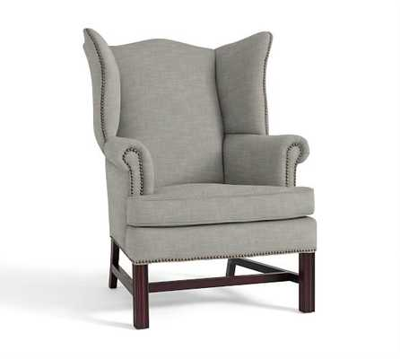 THATCHER UPHOLSTERED WINGBACK CHAIR - Pottery Barn