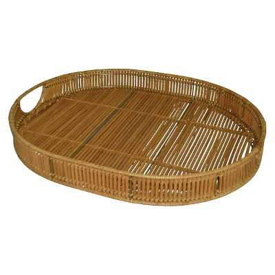 Linear Weave Oval Tray - Target