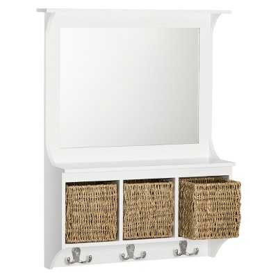 """Thresholdâ""""¢ Entryway Mirror with Baskets and Hooks - Target"""
