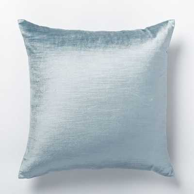 """Luster Velvet Pillow Cover - Dusty Blue - 20""""sq - Insert sold separately - West Elm"""