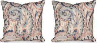 Boston Manor 19.5x19.5 Pillows, Indigo - insert - One Kings Lane