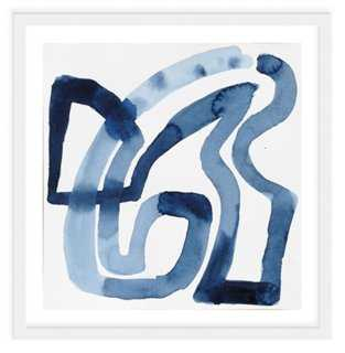 "Jen Garrido, Indigo Weave-24"" x 24""-Framed - One Kings Lane"