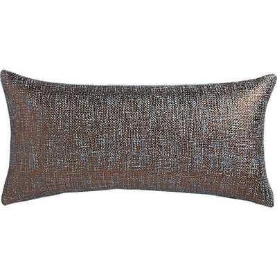"Glitterati slate23""x11"" pillow with down-alternative insert. - CB2"