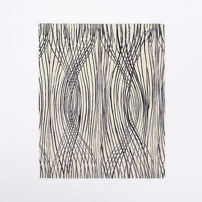 Sarah Campbell Linear Ogee Rug 6x9 - West Elm