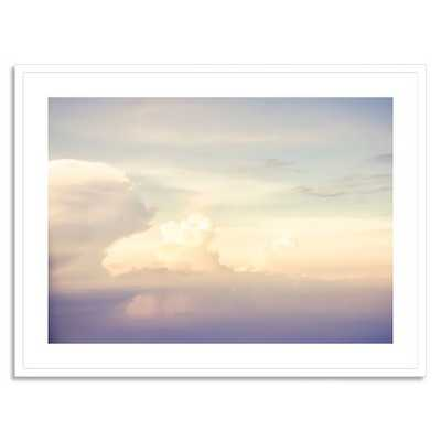 "Minted for west elm - Flying with Clouds - 42""x32"" - Framed(White) - West Elm"
