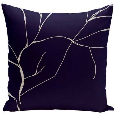"""Floral Throw Pillow - Spring Navy, 20"""" H x 20"""" W - Synthetic down insert - Wayfair"""